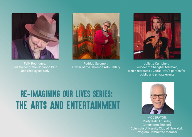 Re-Imagining Our Lives Series: The Arts and Entertainment